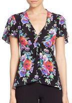 Nanette Lepore Poppy Silk Top