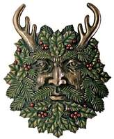 Summit Greenman Winter Plaque Fantasy Designer Decoration Collectible