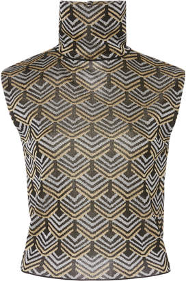 Paco Rabanne Printed Turtleneck Top