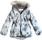Molo Horses Print Nylon Hooded Ski Jacket
