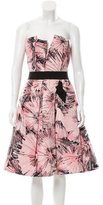 Carolina Herrera Printed Pleated Dress