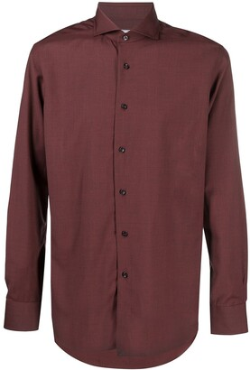 Xacus Pointed Collar Virgin Wool Shirt