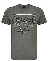 Diesel T-diego-ne 'brave On Tour' T-shirt, Grey