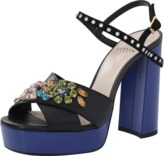 Lanvin Jeweled Platform Sandal