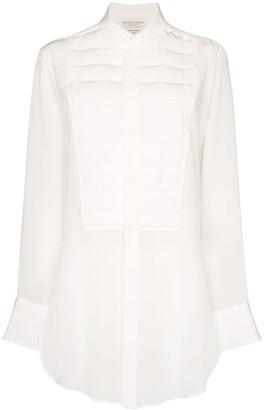 Bottega Veneta Quilted Silk Shirt