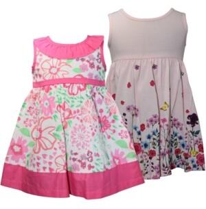 Blueberi Boulevard Baby Girls 2-Pc. Floral-Print Sundresses