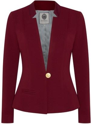 Menashion Blazer No. 500 Slim Fit Burgundy Red