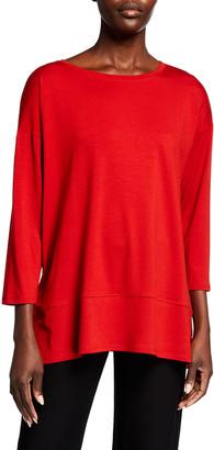 Eileen Fisher Plus Size Lyocell Jersey Bracelet Sleeve Tunic