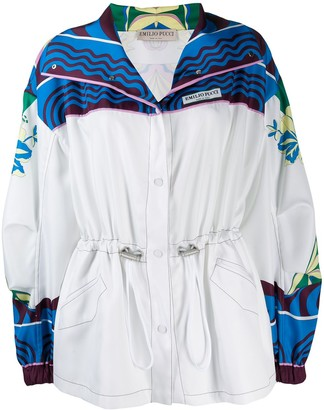 Emilio Pucci Abstract Print Detail Lightweight Jacket