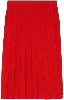 Burberry Cady pleated midi skirt