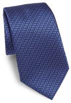 Armani Collezioni Basket Weave Silk Tie