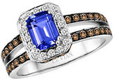 LeVian Blueberry Tanzanite, Diamond and 14K Vanilla Gold Ring