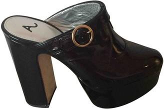 ALEXACHUNG Alexa Chung Black Patent leather Sandals