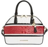 Brahmin Lovina Hudson Leather Satchel - Red