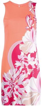 Emilio Pucci Floral Print Detail Dress