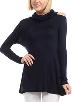 Celeste Navy Cutout Turtleneck Tunic
