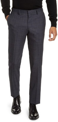 Tiger of Sweden Todd Flat Front Plaid Wool Dress Pants