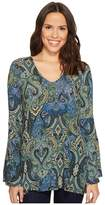 Karen Kane Bell Sleeve Top Women's Clothing