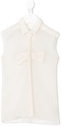 Caroline Bosmans Kids Sleeveless Fitted Shirt