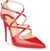 Christian Louboutin Crossfliketa 100 red patent leather pumps