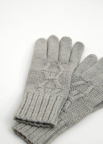 MANGO Ribbed Knit Gloves