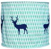 Taftan Deer Lampshade Fabric (35 cm, Dark Blue/ Green)