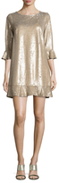 ABS by Allen Schwartz Sequin Flounce Shift Dress
