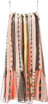 Apiece Apart striped sleeveless tiered dress - women - Silk/Rayon - 4