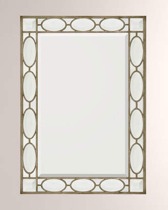John-Richard Collection John Richard Collection Silver Wood Frame with Clear Beveled Mirror