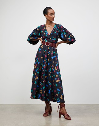 Lafayette 148 New York Scatter Dot Print Faye Dress