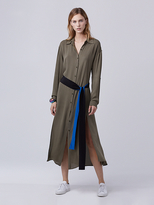 Diane von Furstenberg Clarise Midi Shirt Dress