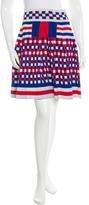 Alexander McQueen Checkered Mini Skirt