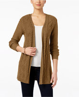 Karen Scott Lightweight Cable-Knit Duster Cardigan, Only at Macy's