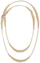 Michael Kors Gold-Tone Long Fancy Link Layer Necklace