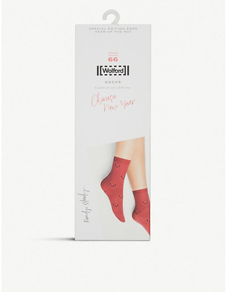 Wolford Chinese New Year graphic-print woven socks