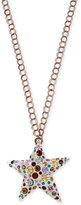 Betsey Johnson Rose Gold-Tone Multi-Crystal Lucite Star Pendant Necklace