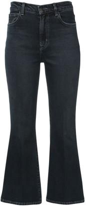 J Brand Julia High Waist Flared Denim Crop Jeans