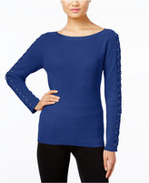 INC International Concepts Lace-Up Sweater, Only at Macy's