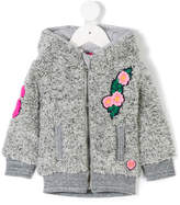 Vingino floral applique teddy jacket