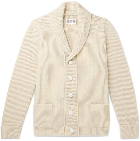 Maison Margiela Shawl-Collar Wool Cardigan