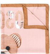 Moschino toy bear motif scarf - women - Silk - One Size