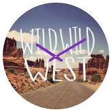 Deny Designs Leah Flores Wild Wild West Round Wall Clock