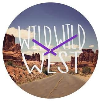 Deny Designs Leah Flores Wild Wild West Round Wall Clock
