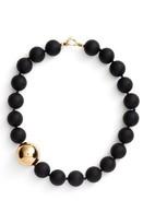 Simon Sebbag Women's Vermeil Bead Matte Onyx Collar Necklace