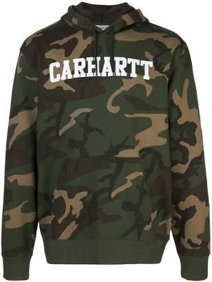 Carhartt WIP camouflage print logo hoodie