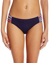 Anne Cole Women's Multi Color Crochet Shirred Tab Side Hipster Bikini Bottom