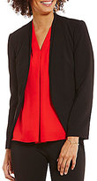 Vince Camuto Collarless Long Sleeve Open Front Solid Jacket