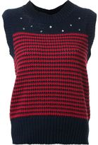 Muveil embroidered knit vest