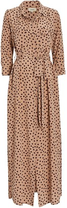 L'Agence Cameron Maxi Shirt Dress
