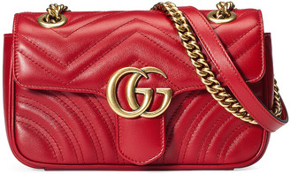 Gucci GG Marmont 2.0 Shoulder Bag in Hibiscus Red | FWRD